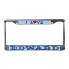 I Love Edward License Plate Frame