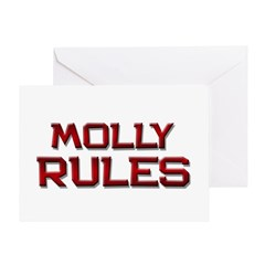 molly rules Greeting Card