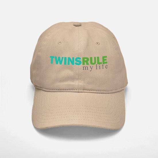 TWINS RULE my life Baseball Baseball Cap