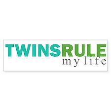 TWINS RULE my life Bumper Bumper Bumper Sticker