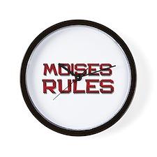 moises rules Wall Clock