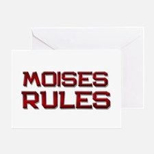 moises rules Greeting Card