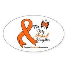 Leukemia Granddaughter Oval Decal
