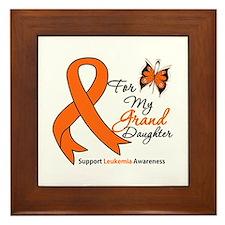 Leukemia Granddaughter Framed Tile