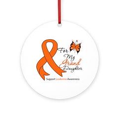 Leukemia Granddaughter Ornament (Round)