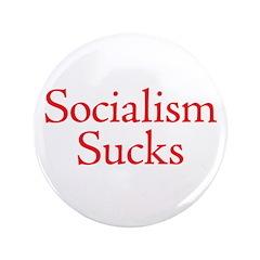 "Socialism Sucks 3.5"" Button"