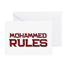 mohammed rules Greeting Card