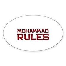 mohammad rules Oval Decal