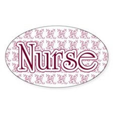 Pink Nurse Oval Decal