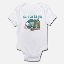 Yia Yia's Helper (Computer) Infant Bodysuit