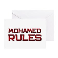 mohamed rules Greeting Card