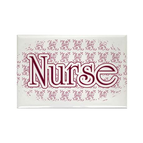 Pink Nurse Rectangle Magnet (100 pack)
