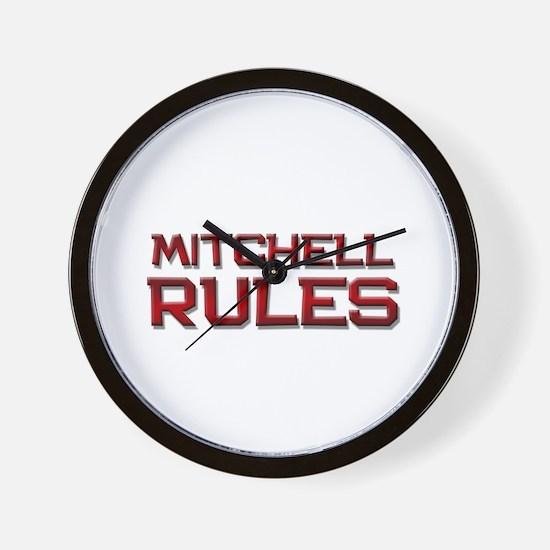 mitchell rules Wall Clock
