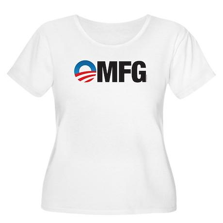 OMFG Women's Plus Size Scoop Neck T-Shirt