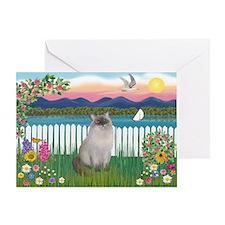 Shore / Ragdoll Greeting Card