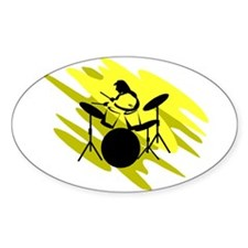 DRUMS (3) Oval Decal