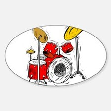 DRUM SET (4) Oval Decal