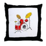 Drum cushions Throw Pillows