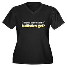 Ballistics Gel Women's Plus Size V-Neck Dark T-Shi