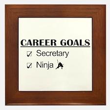 Secretary Ninja Career Goals Framed Tile