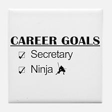 Secretary Ninja Career Goals Tile Coaster