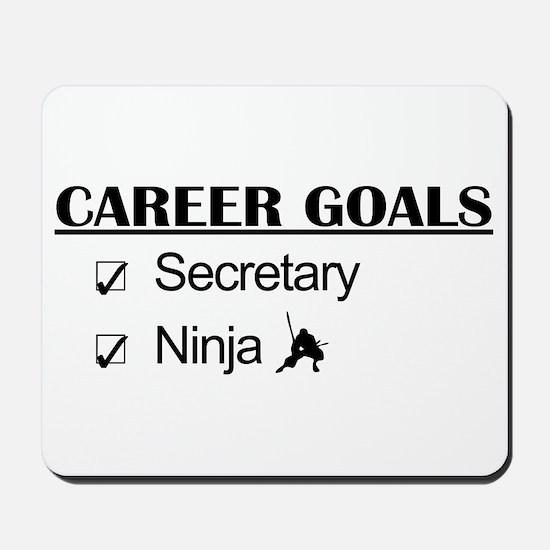 Secretary Ninja Career Goals Mousepad