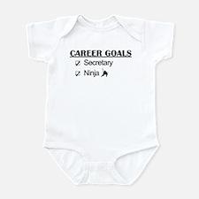 Secretary Ninja Career Goals Infant Bodysuit