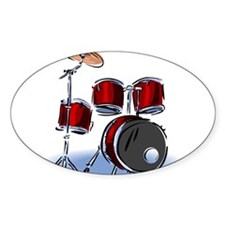 DRUM SET (5) Oval Decal