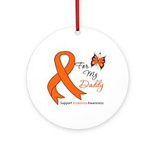Leukemia Ribbon Daddy Ornament (Round)