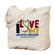 I Love My Autistic Brother 2 Tote Bag