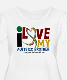 I Love My Autistic Brother 2 T-Shirt