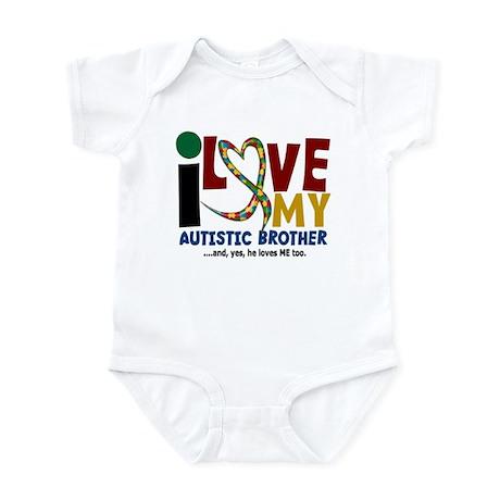I Love My Autistic Brother 2 Infant Bodysuit