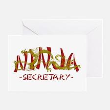 Secretary Dragon Ninja Greeting Cards (Pk of 10)