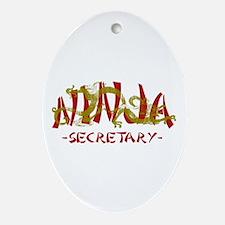 Secretary Dragon Ninja Oval Ornament