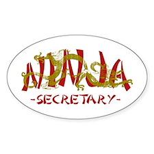 Secretary Dragon Ninja Oval Decal