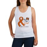 Leukemia Ribbon Dad Women's Tank Top
