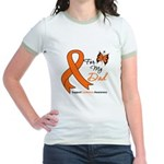 Leukemia Ribbon Dad Jr. Ringer T-Shirt