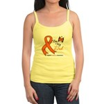Leukemia Ribbon Dad Jr. Spaghetti Tank