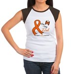 Leukemia Ribbon Dad Women's Cap Sleeve T-Shirt