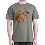 Leukemia Ribbon Dad Dark T-Shirt