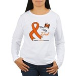 Leukemia Ribbon Dad Women's Long Sleeve T-Shirt