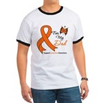 Leukemia Ribbon Dad Ringer T