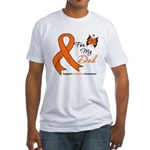 Leukemia Ribbon Dad Fitted T-Shirt