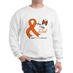 Leukemia Ribbon Dad Sweatshirt