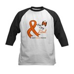 Leukemia Ribbon Dad Kids Baseball Jersey