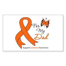 Leukemia Ribbon Dad Rectangle Decal