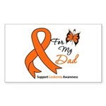 Leukemia Ribbon Dad Rectangle Sticker 10 pk)