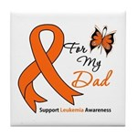 Leukemia Ribbon Dad Tile Coaster