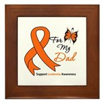 Leukemia Ribbon Dad Framed Tile