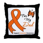 Leukemia Ribbon Dad Throw Pillow